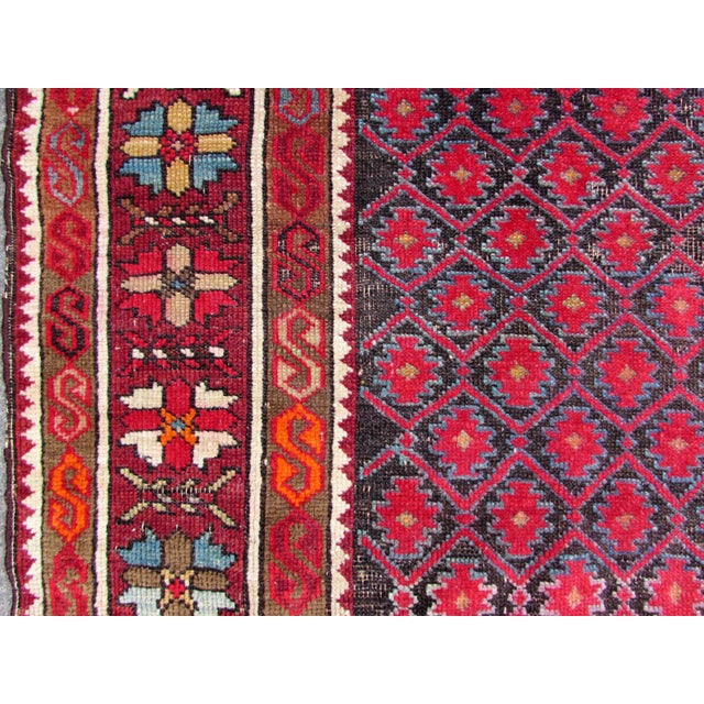 Textile 1910s, Handmade Antique Afghan Baluch Rug 3.1' X 5.9' For Sale - Image 7 of 13