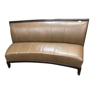 Schnadig Leather Curved Sofa