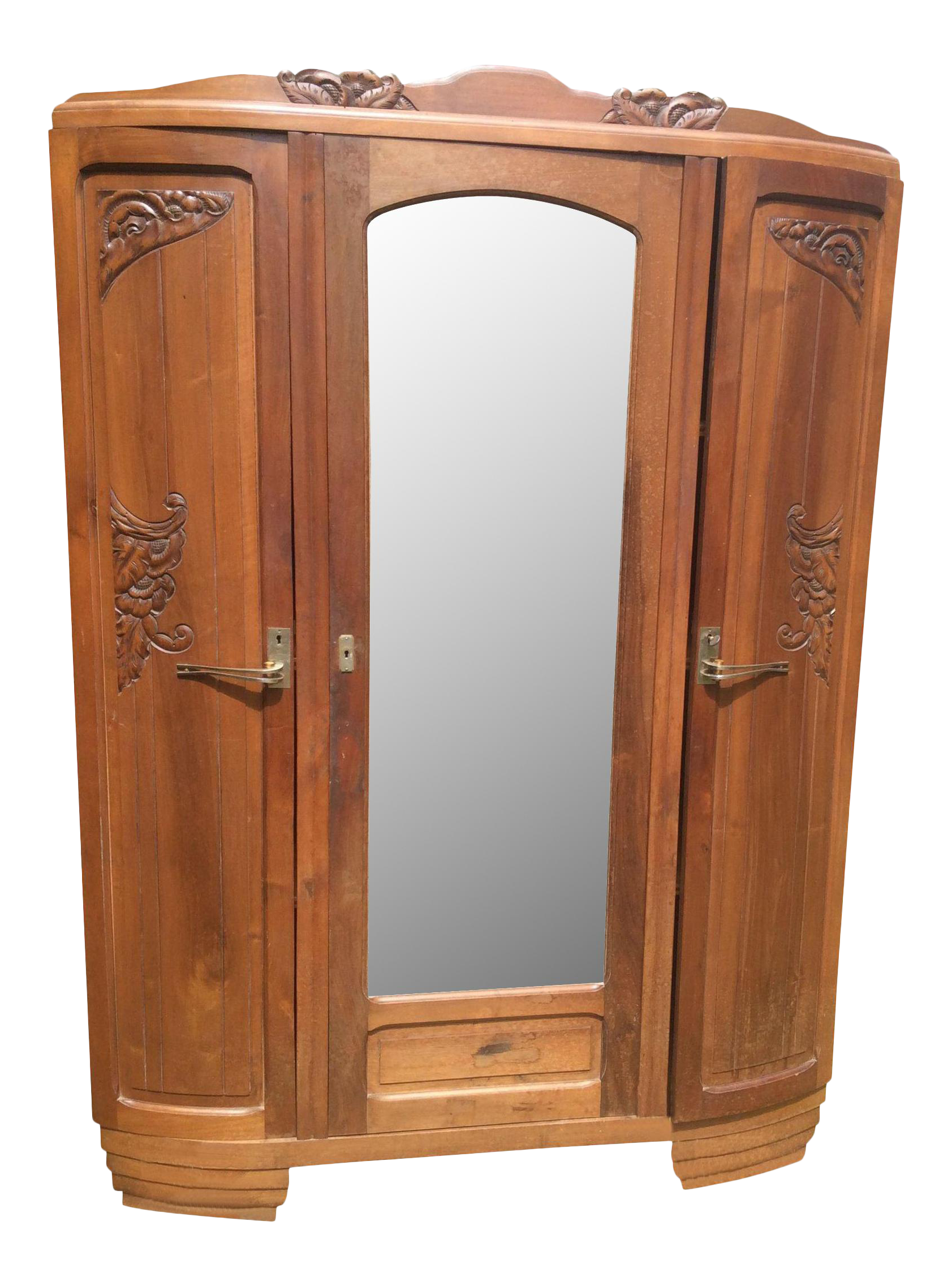 French Art Nouveau Armoire   Image 1 Of 10