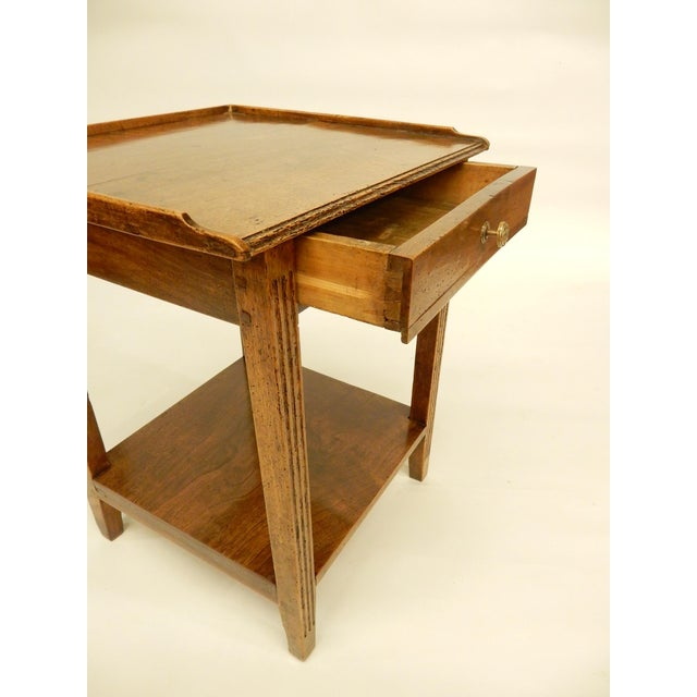 Early 19th Provincial Walnut Side Table For Sale - Image 4 of 7