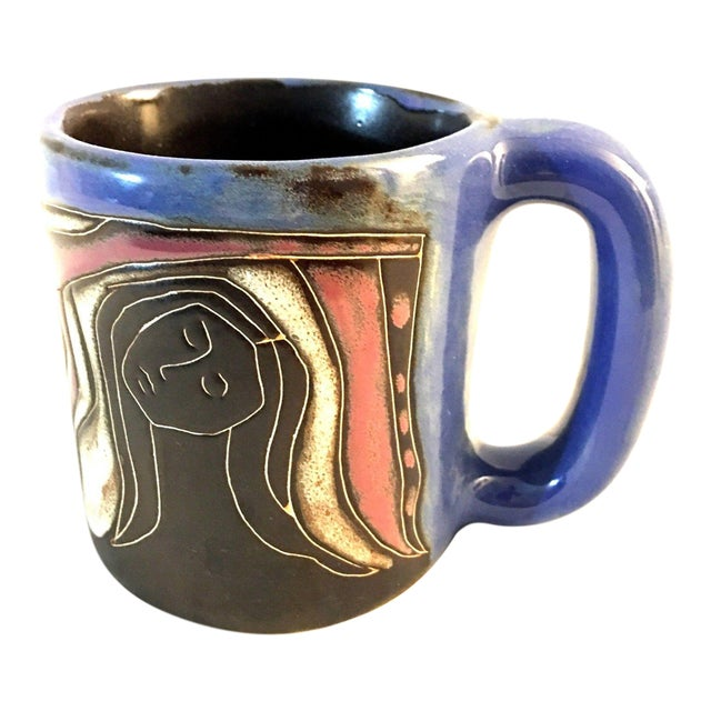 Handmade Picasso Style Coffee Mug Cup For Sale