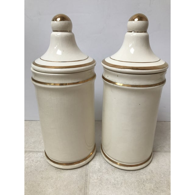 Antique Apothecary Jars - A Pair For Sale In Chicago - Image 6 of 6
