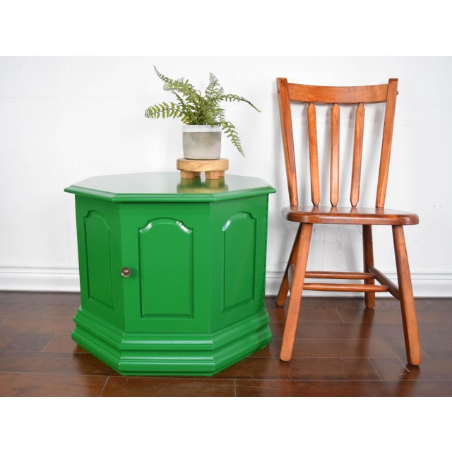 Modern Bottle Green Fine Paints of Europe High Gloss Green Side Table For Sale - Image 3 of 8