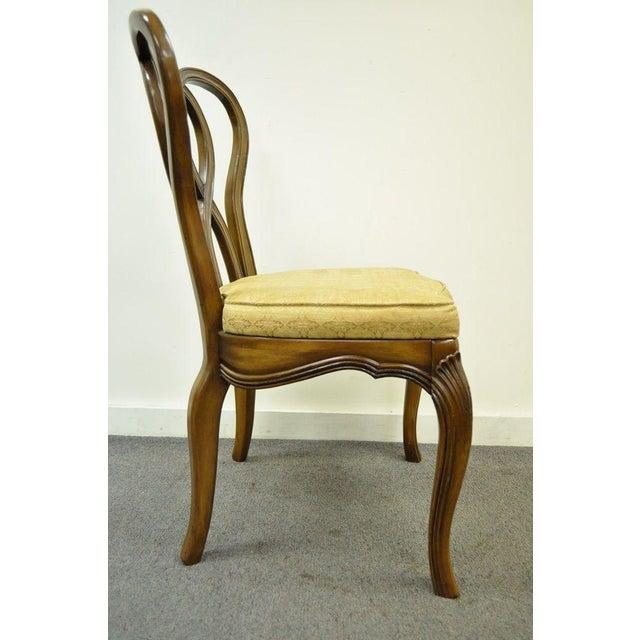 Hollywood Regency Vintage Hollywood Regency Solid Wood Loop Back Side Occasional Desk Dining Chair For Sale - Image 3 of 11