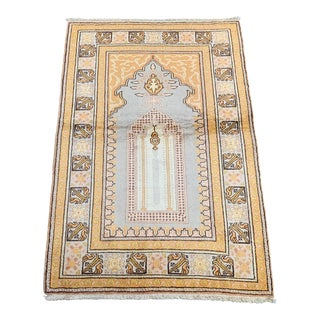 1980s Silk on Cotton Palace Gate Design Rug - 3′ × 4′5″ For Sale