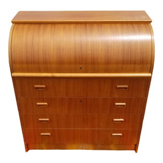 Vintage Danish Modern Secretary Desk For Sale