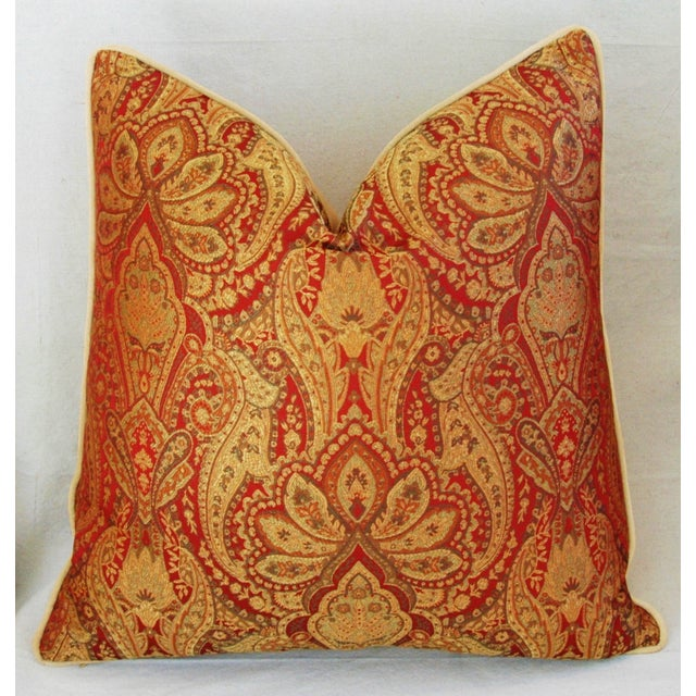 Custom French Jacquard & Velvet Pillows - A Pair - Image 8 of 10