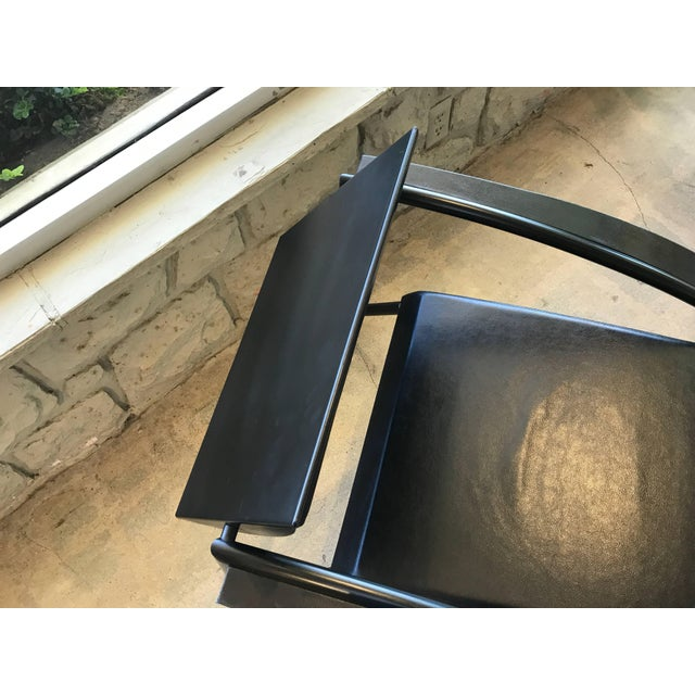 1980s Jean-Louis Godivier Sleek Armchair- A Pair For Sale - Image 4 of 11