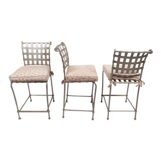 Contemporary Modern Bar Stools -- Set of 3 For Sale