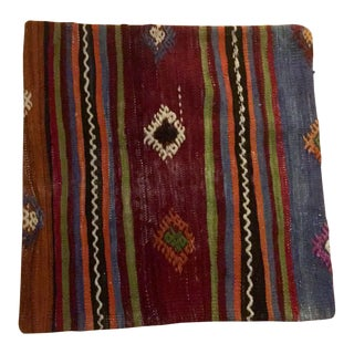 Vintage Boho Kilim Pillow Cover For Sale