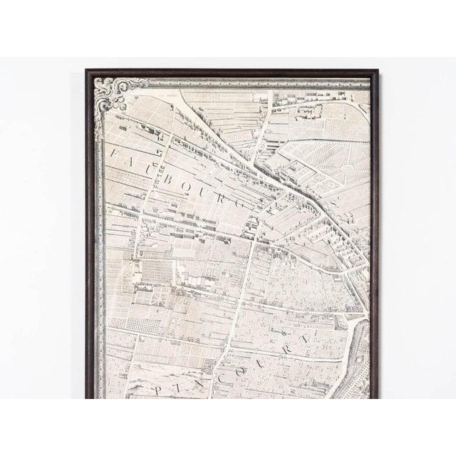 Michel Etienne Turgot's plan de Paris Engraved birds-eye map Black walnut wooden panel frames France Circa 1920 Individual...