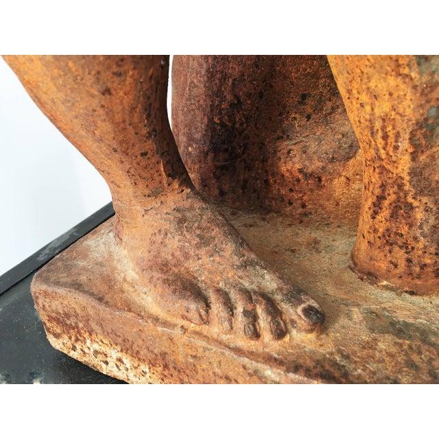 Italian Serpentine Figure of the Farnese Hercules For Sale In Dallas - Image 6 of 10