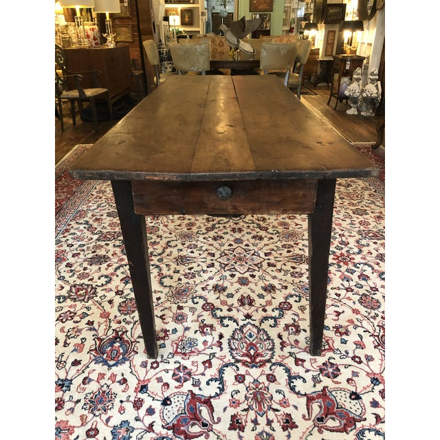 19th Century French Walnut Farm Table For Sale - Image 4 of 13