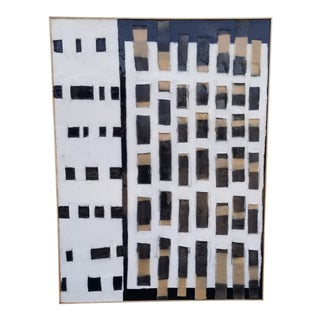 Contemporary Abstract Mixed-Media Painting by Kelly Caldwell, Framed For Sale