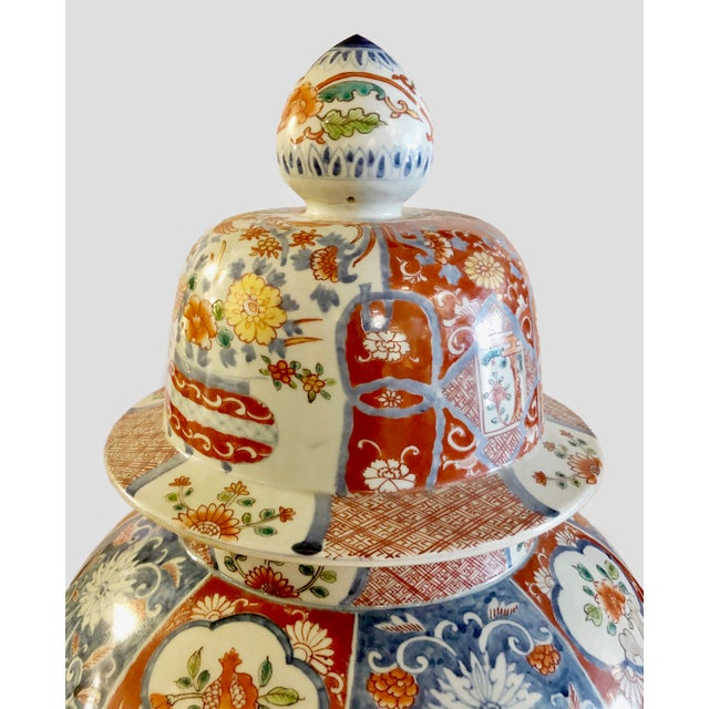 Japanese Imari Porcelain Covered Jars - a Pair For Sale - Image 4 of 12