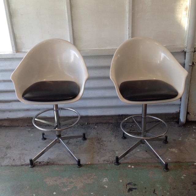 Vintage Cosco Shell Bar Stools- A Pair - Image 11 of 11