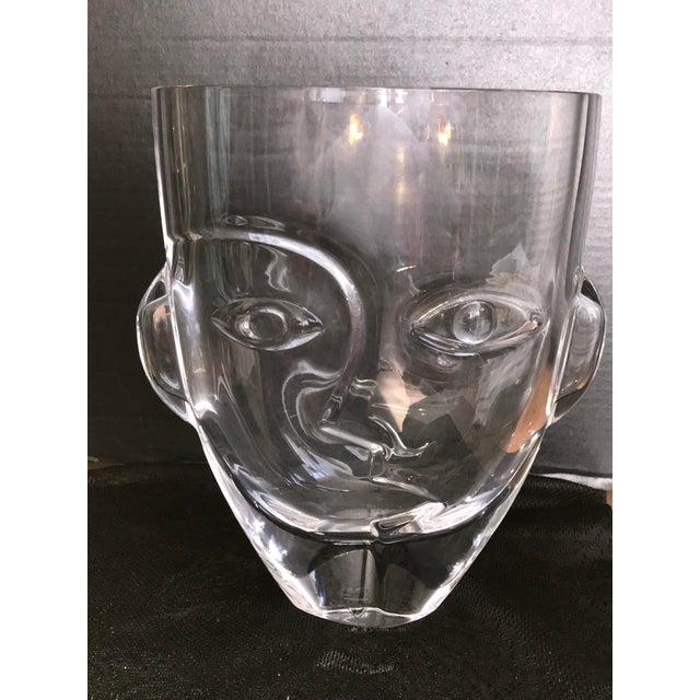 "Orrefores Sweden ""Ramses Child"" Face Vase. by Martti Rytkonen For Sale - Image 6 of 9"