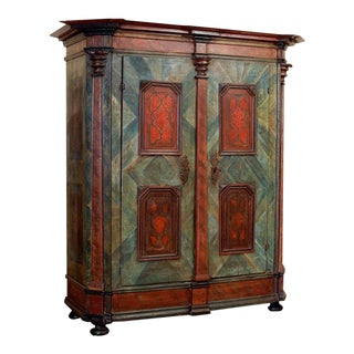 19th Century Painted Armoire For Sale
