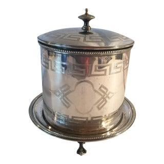 19th Century Silver Plate Hukin & Heath Biscuit Barrel