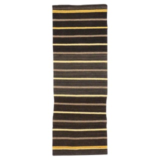 20th Century Turkish Striped Kilim Runner - 2′7″ × 7′2″ For Sale
