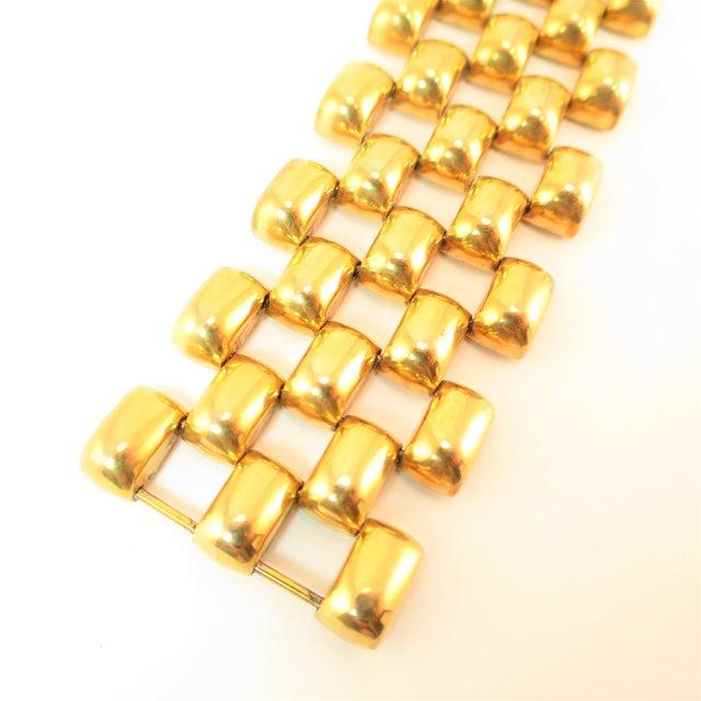 Mid-Century Kreisler Geometric Open-Link Vermeil Bracelet 1940s For Sale - Image 4 of 13