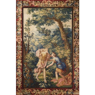 "18th Century Antique Tapestry From Brussels ""Diana and Endymion"" For Sale"