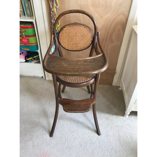 This high chair once belonged to my grandmother, who was a great lover of  antiques - D.G. Fischel & Sons Antique Caned Bentwood High Chair Chairish