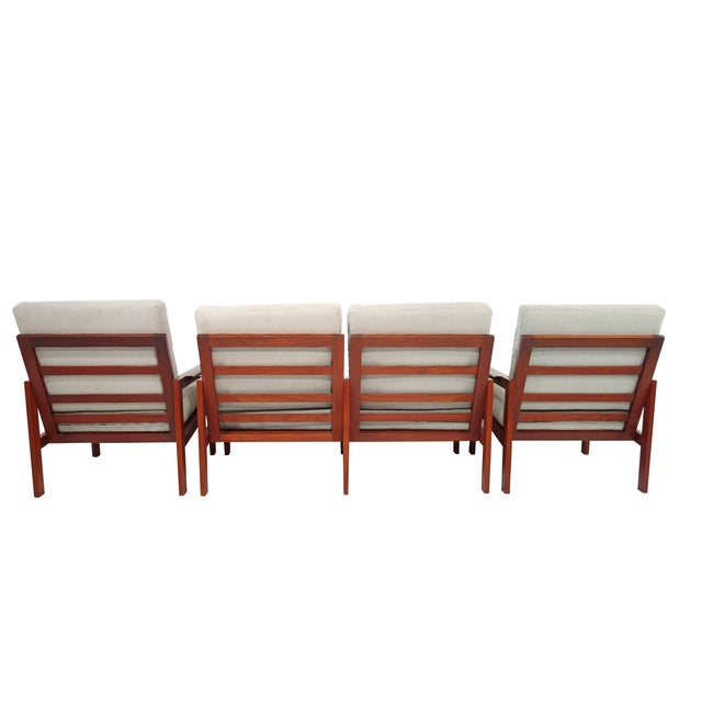 Mid-Century Wikkelso Sofa & Two Lounge Chairs - Image 3 of 9