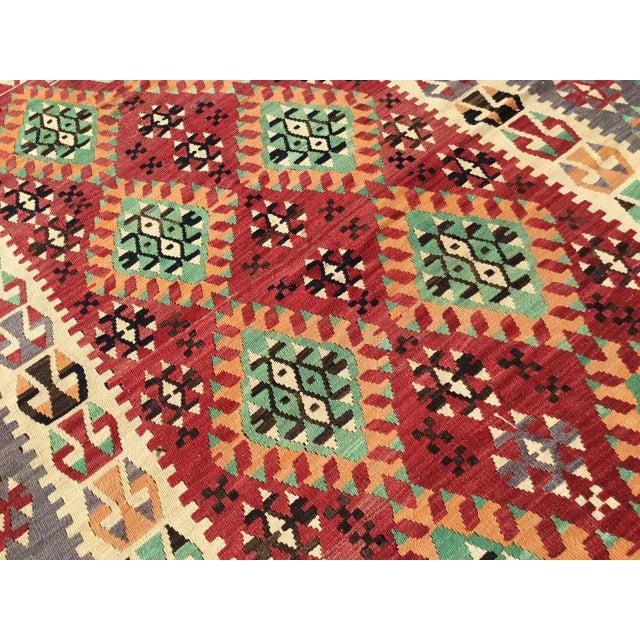 Vintage Turkish Kilim Rug For Sale In Raleigh - Image 6 of 12