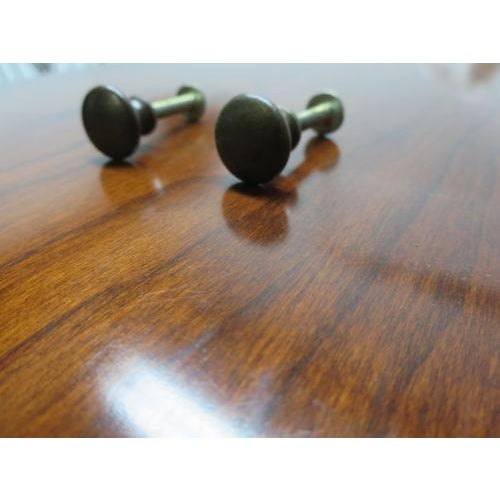 Henkel Harris Henkel Harris Black Cherry Virginia Galleries Sideboard Handles - a Pair For Sale - Image 4 of 5