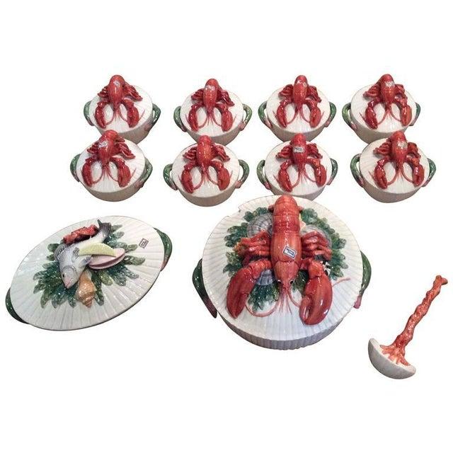 Fitz & Floyd Lobster Soup Bowls- Set of 11 For Sale - Image 11 of 11