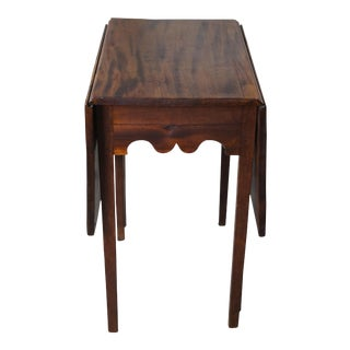 Antique American Mahogany Federal Style Drop Leaf Dining Console Table Gate Leg For Sale