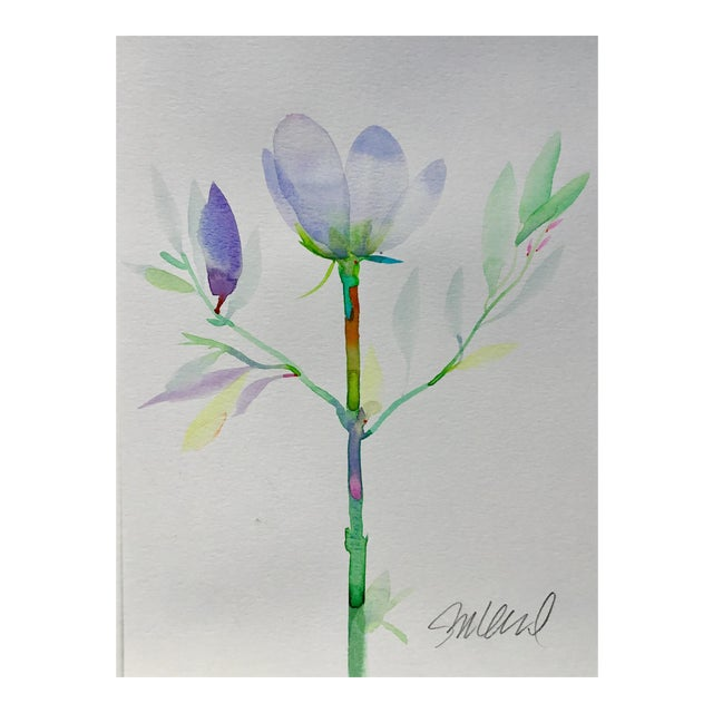 "Botanical 47, Original Watercolor 9x12"" For Sale"