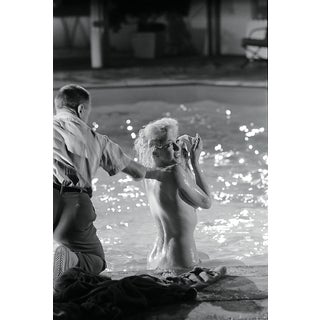 Marilyn Monroe Photograph Undressed Poolside by Lawrence Schiller, 19/75 For Sale