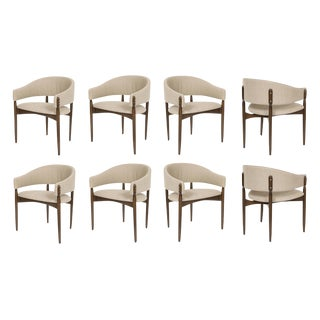 Customizable Set of Eight Enroth Dining Chairs For Sale