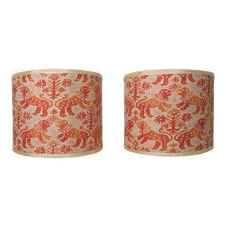 Fortuny Richelieu Sconce Shades - A Pair For Sale
