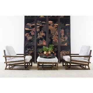 Chinese Four-Panel Lacquered Coromandel Panel Screen Preview