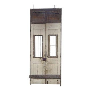 1800's French Wooden Double Doors - A Pair For Sale