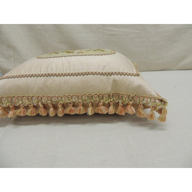 Antique Aubusson Center Tapestry Decorative Pillow For Sale In Miami - Image 6 of 9
