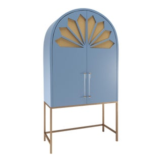 Calzada Secretary Desk - Summer Mist Blue For Sale