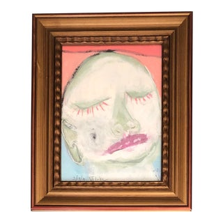 Contemporary Robert Cooke Abstract Face Painting/Pastel For Sale