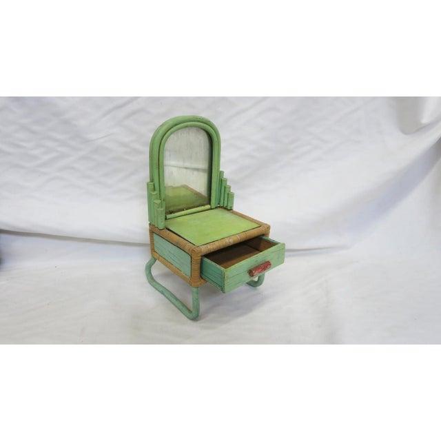 1930s Rare Sale's Man Sample Miniature Rattan Furniture For Sale - Image 5 of 8