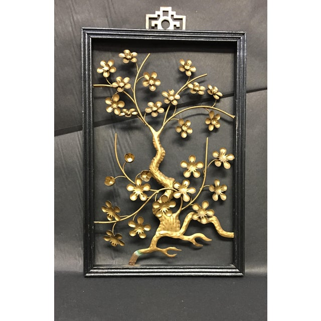 Asian Asian Brass Wall Hangings - Set of 4 For Sale - Image 3 of 9