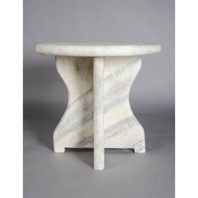 2010s Mallet Design Table - Han Bai Yu (White Marble) For Sale - Image 5 of 5
