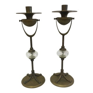 Early Ship Candle Holders- a Pair