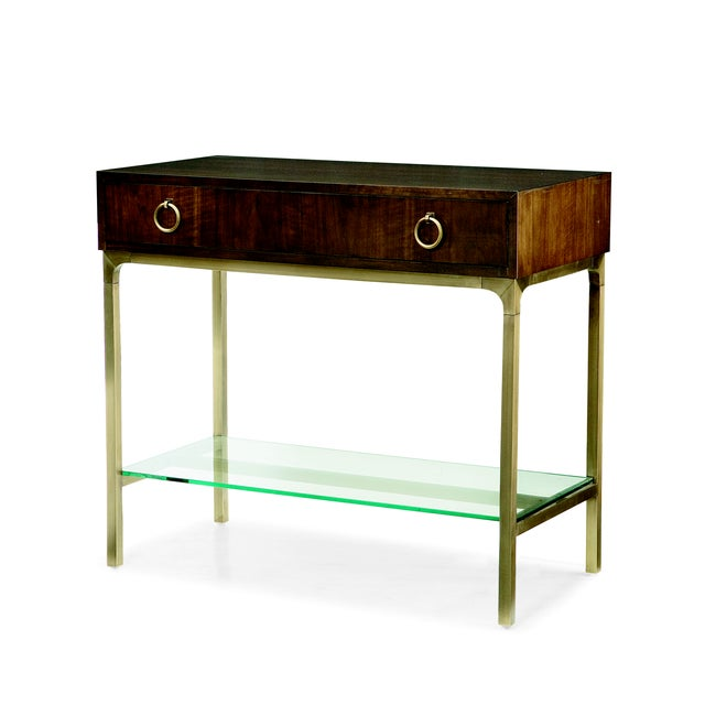This piece is available only as shown, and will ship in 2-3 weeks. A chic nightstand from Century Furniture's Bridgeton...