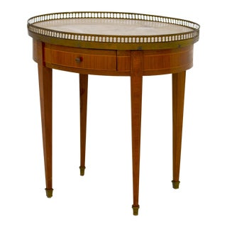 Louis XVI Style Marble-Top Side Table For Sale