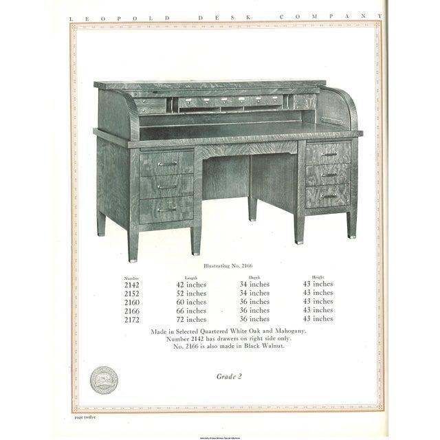 1920s Large Leopold Solid Gany Rolltop Desk For Image 5 Of 6