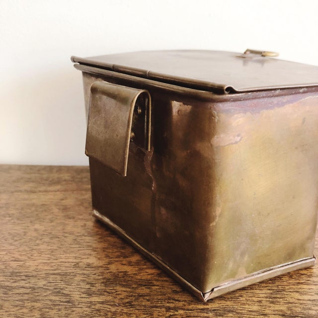 1960s Hanging Brass Planter / Mail Bin For Sale In Austin - Image 6 of 8