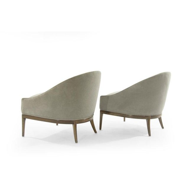 Mid-Century Modern Lounge Chairs in Mohair, 1950s For Sale - Image 4 of 13